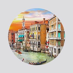 Venice Photo Round Ornament